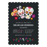 Sugar Skulls Día de los Muertos Celebration Invitation