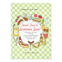 Summer Eating Invitation