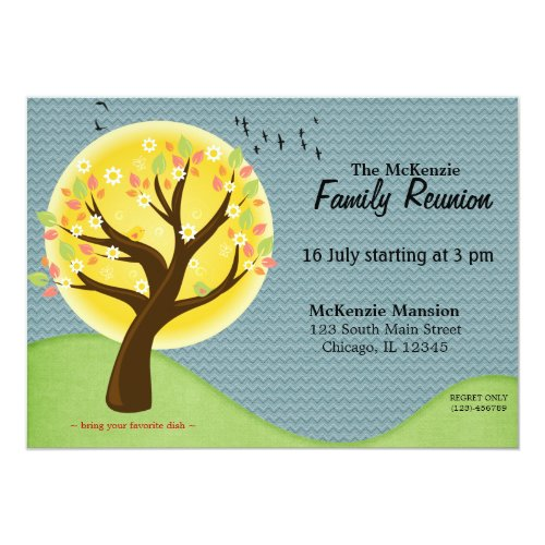 Summer Family Reunion Card