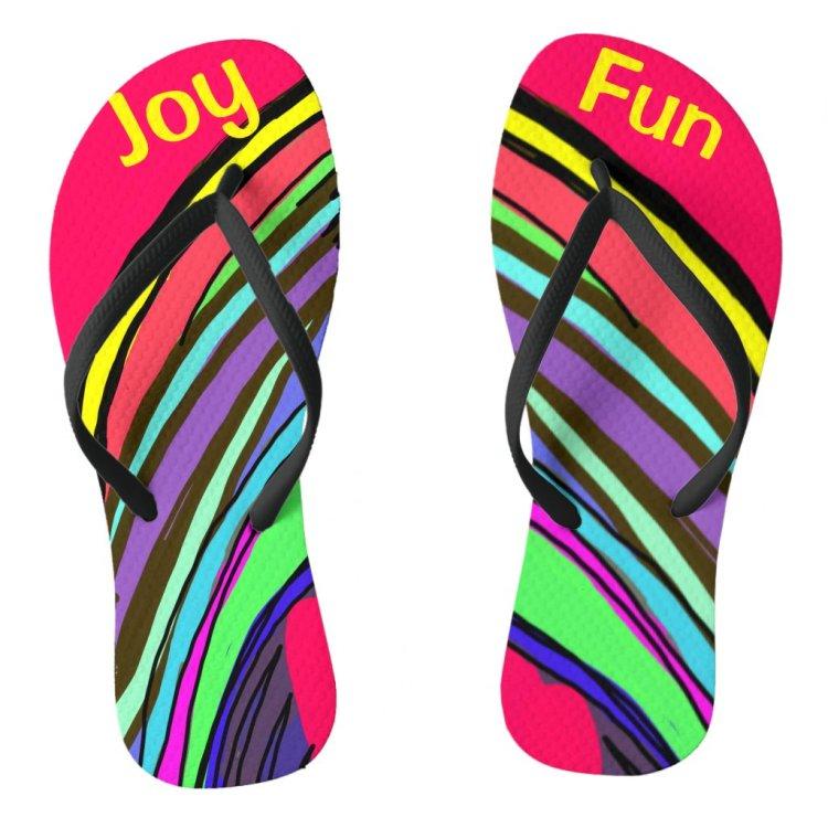 Summer Fun and Joy Colorful Flip Flops