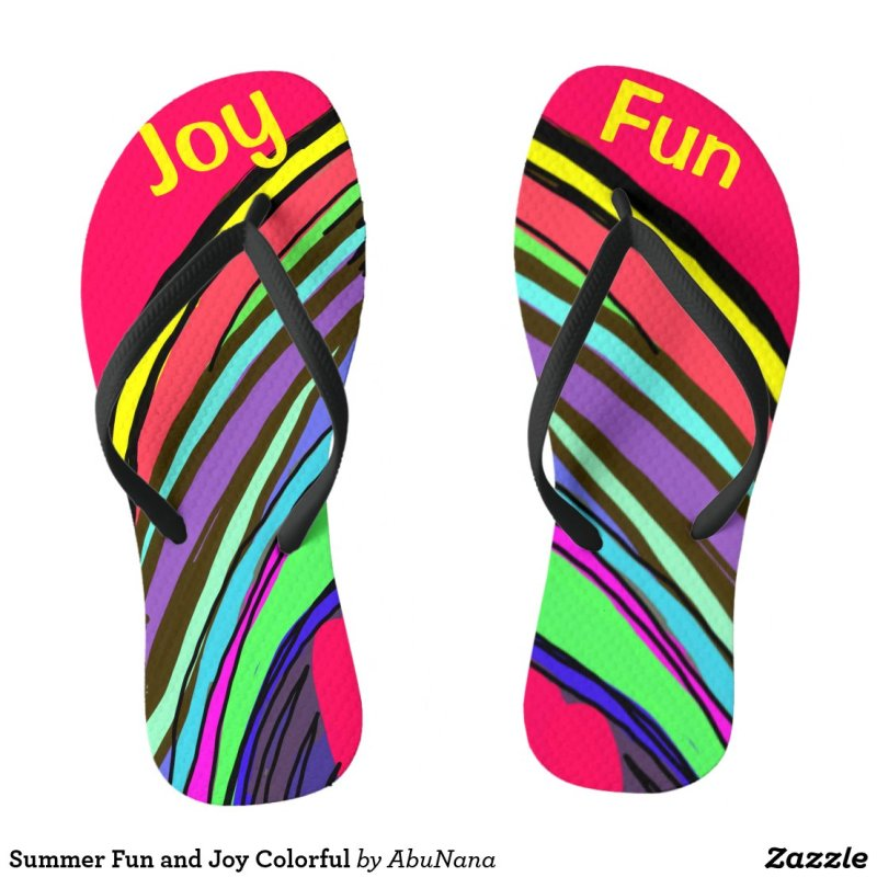 Summer Fun and Joy Colorful Flip Flops