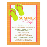 Summer Fun Picnic/BBQ Invitation (orange)