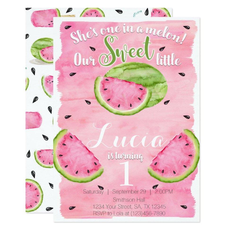 watermelon invitations