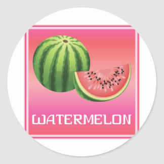 Summer Watermelon Round Stickers
