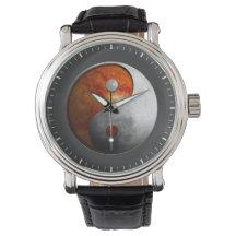 Sun and Moon Yin Yang Wristwatch