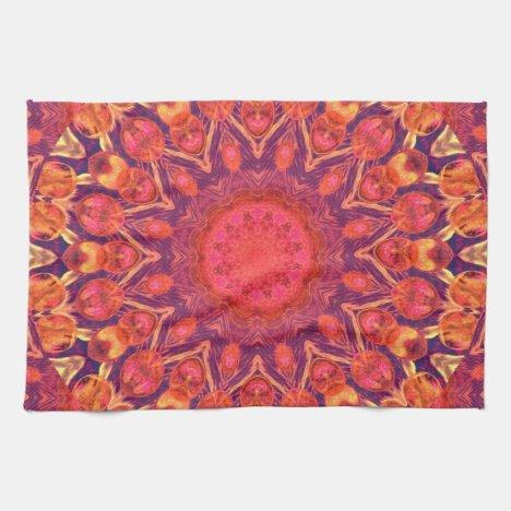 Sunburst, Abstract Star Circle Dance Hand Towel
