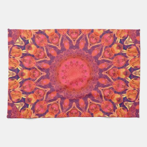 Sunburst, Abstract Star Circle Dance Hand Towel