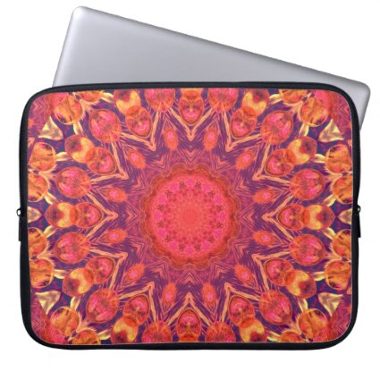 Sunburst, Abstract Star Circle Dance Computer Sleeve