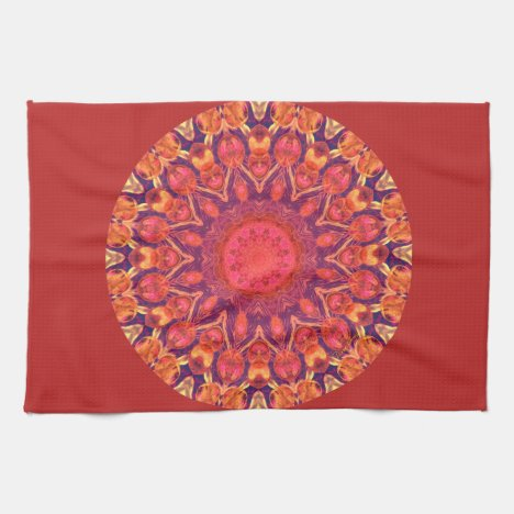 Sunburst Mandala - Abstract Circle Dance Towel