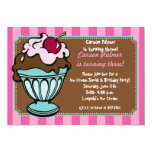 Sundae Shoppe Stripes Invitation