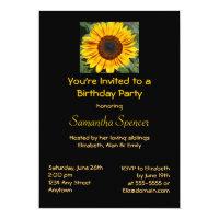 sunflower birthday party invitations gifts fromaparrottsnest