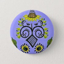 Sunflower Folk Pattern by Alexandra Cook buttons