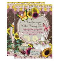 Sunflower Garden Tea Party Invitation