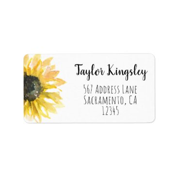Sunflower on the Side Address Labels