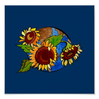 Sunflower Planet print
