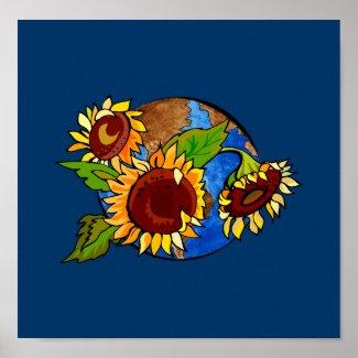 Sunflower Planet print