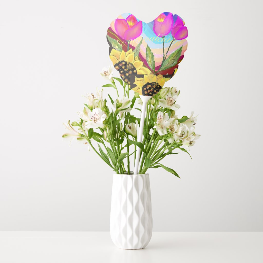 Sunflowers Tulips & Love Be My Valentine Balloon