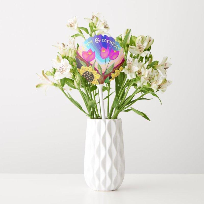 Sunflowers Tulips & Love Thinking of You Balloon