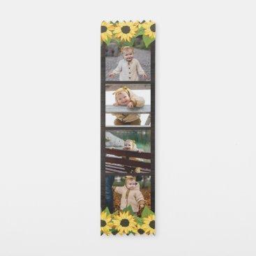 Sunflowers & Wood Four Photo Collage Award Ribbon