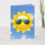 ❤️ sunglasses on sun with sky card