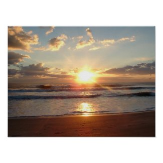 Beach Sunrise 1 print poster