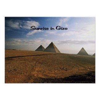 Sunrise on the Giza Plain Posters