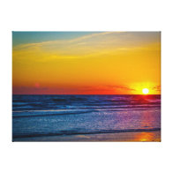 Sunrise Over Atlantic Ocean & Water Reflection III Gallery Wrapped Canvas