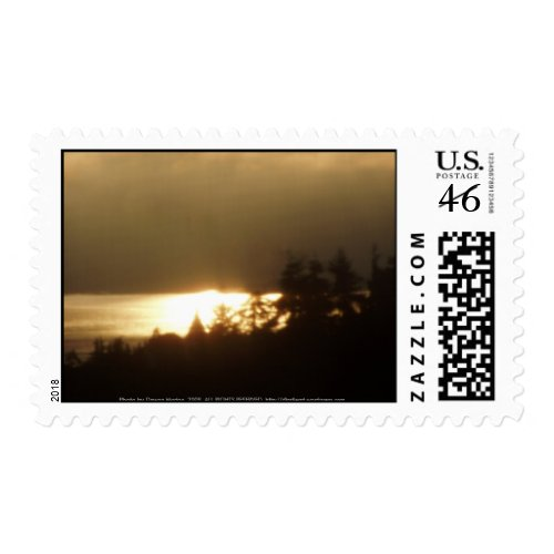 Sunrise Over the Columbia River #4 stamp