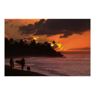 Sunset in Rincon, Puerto Rico print