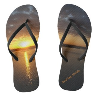 Sunset On Sand Key Custom Flip Flops