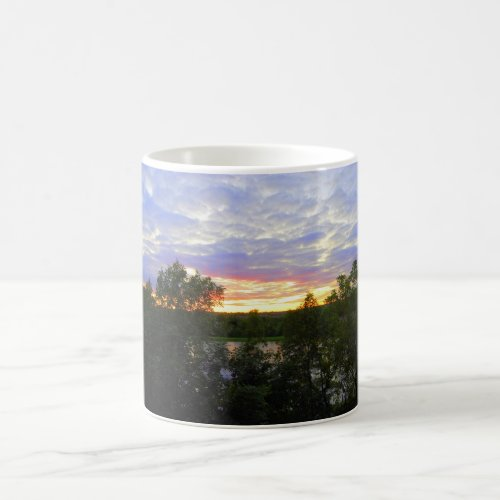 Sunset over Pond Coffee Mug