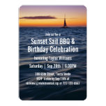 Sunset Sail Contemporary Birthday Invitation