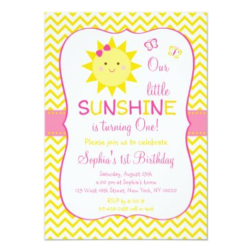 Sunshine Birthday Invitations You Are My Sunshine