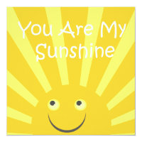 Sunshine Birthday Party Card