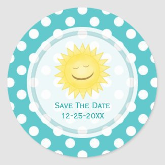 Sunshine Save The Date Stickers