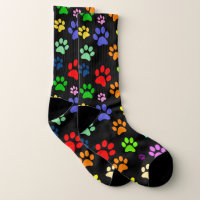 Super Cute Colorful Pet Paw Pattern Socks