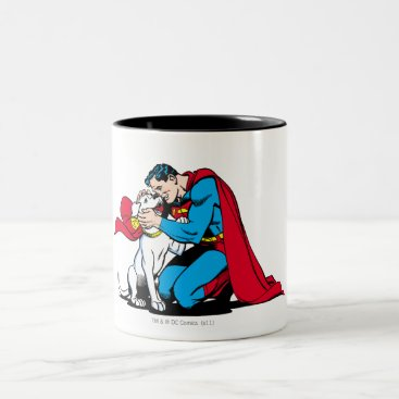 Superman and Krypto Two-Tone Coffee Mug