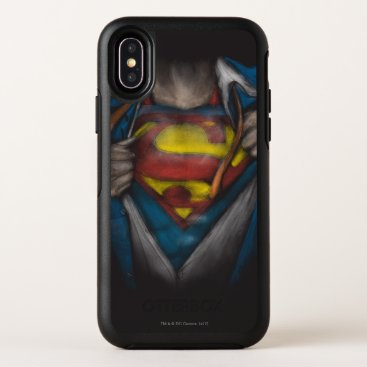 Superman | Chest Reveal Sketch Colorized OtterBox Symmetry iPhone X Case