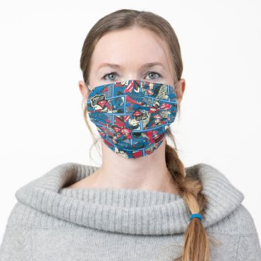 Superman Comic Pattern Cloth Face Mask