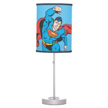 Superman Left Fist Raised Table Lamp
