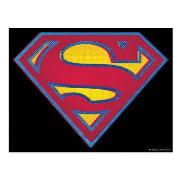 Superman S-Shield   Dot Logo Postcard