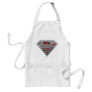 Superman S-Shield | Grey and Red City Logo Adult Apron