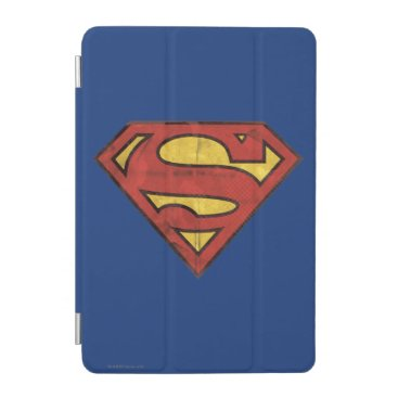 Superman S-Shield | Grunge Black Outline Logo iPad Mini Cover
