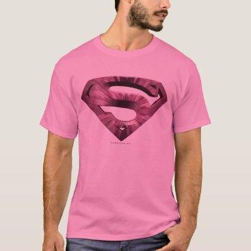 Superman S-Shield   Pink Star Burst Logo T-Shirt