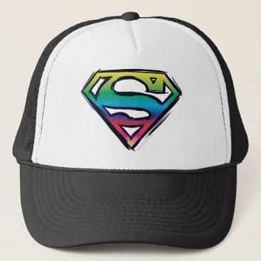 Superman S-Shield | Rainbow Logo Trucker Hat