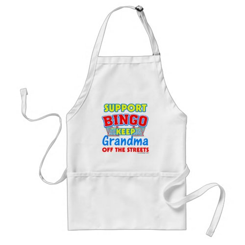 Support Bingo Grandma Adult Apron