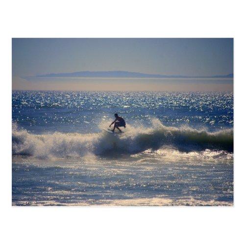 Surfer in Huntington Beach, California Postcard