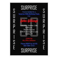 Surprise 50th Birthday Party Invitation - 50 Invitation