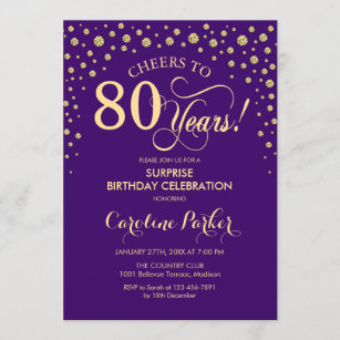 cheers to 80 years invitations zazzle