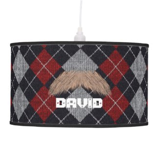 Swag Like Dad Plaid Mustache Lamps